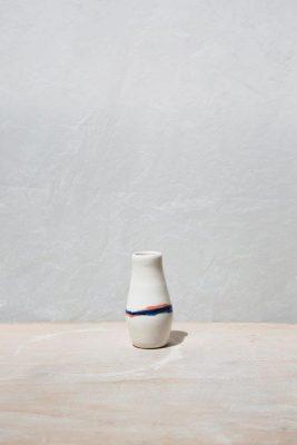 mini Vase Rayure Bleu