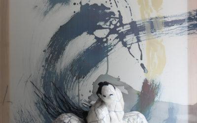 """""""Fil sur noir"""" – Tanya Angelova et Laurence Schlimm au Pavillon des Arts et du Patrimoine de Châtenay-Malabry."""